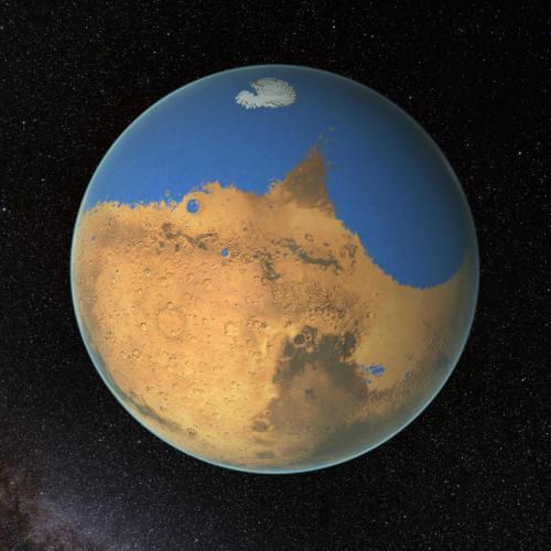 NASA科学家的研究表明,火星曾存在一个原始海洋,拥有的水量比地球上的北冰洋还多。这颗红色星球已经失去了87%的水。