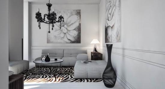 欧式沙发白墙