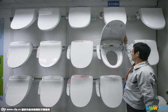 探访日本畅销中国造马桶盖生产线