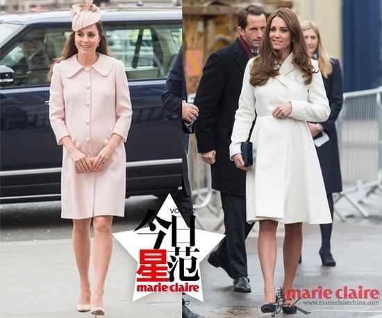 凯特王妃挺大肚示范 粉色也可以穿得很大气