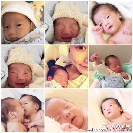 范玮琪感恩诞下双胞胎