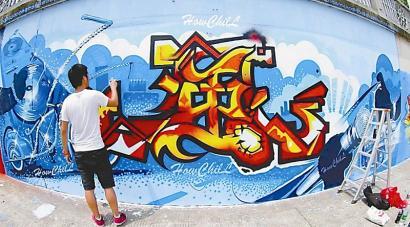 成都城市涂鸦者:色彩特工的另类风景