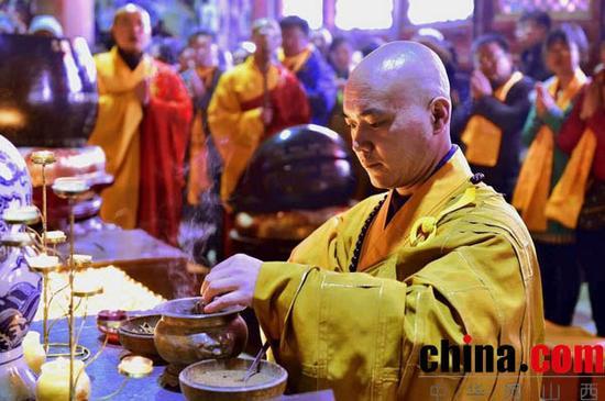 山西省五台山隆重举办吉祥祈福法会