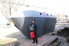 村民杜秀堂与其自造潜艇