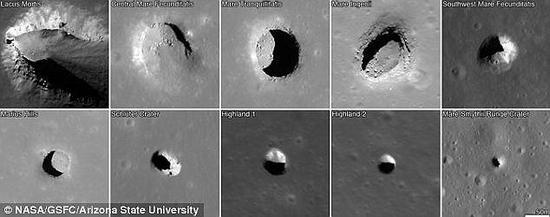 """迄今为止,还没有一个人发现月球熔岩管。目前唯一能够证明月球存在熔岩管的证据就是在轨飞船拍摄的照片。照片中出现的""""天窗""""可能就是这种巨型结构的开口"""