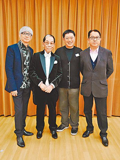 顾家辉(左二)荣休演唱会昨天宣布加场
