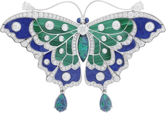 梵克雅宝Papillons蝴蝶高级珠宝系列 - Noire蝴蝶胸针