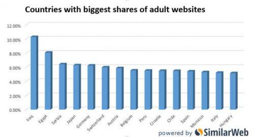 全球色情网站流量来源:伊拉克和埃及贡献最多