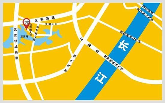 比赛场地交通指引图