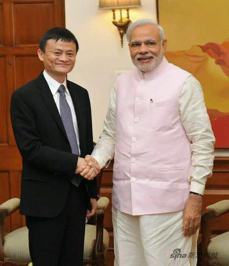 印度总理莫迪会见马云