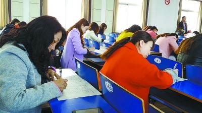 考试现场。