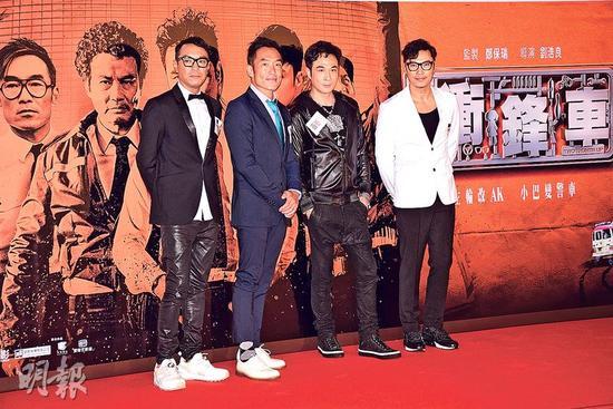 姜皓文、郑浩南、吴镇宇及谭耀文四位型男于新片演技斗一番