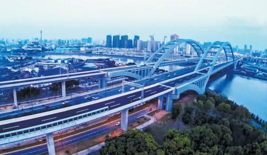 宁波环城南路高架昨开通 总长约9.6公里