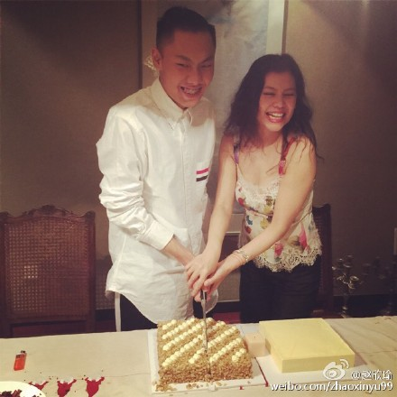 赵欣瑜为儿子庆21岁生日