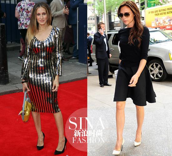 左:Sarah Jessica Parker 右:Victoria Beckham