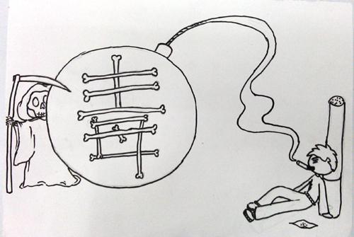 简笔画 手绘 线稿 500_335