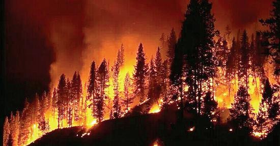 4月2日凌晨4时30分许,关岭自治县永宁镇团元河村,通红的天空终于暗了下来,村庄内弥漫着呛人的烟味。   3月31日下午1时许,永宁镇中心村孙家寨的荒山上突发山火。40个小时内,大火迅速向团元河村方向的森林中蔓延,过火面积至少达上千亩。   这是30天内,永宁镇发生的第二起森林火灾,也是9年内,大火第五次席卷团元河村。   大火并未造成人员伤亡,过火面积、经过损失、具体原因还在进一步调查中。而在村民们记忆中,此次大火是历年来最大、持续时间最长的一次火灾。   大火突然烧了起来   4月2日早上7点左右