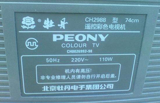 1981年,牡丹电视机厂从松下引进了彩电生产线,生产牡丹牌14寸彩电.