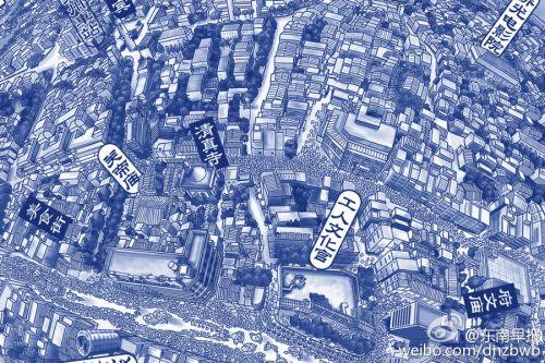 《泉州鸟瞰图》手绘图走红 一起空中找找你的家