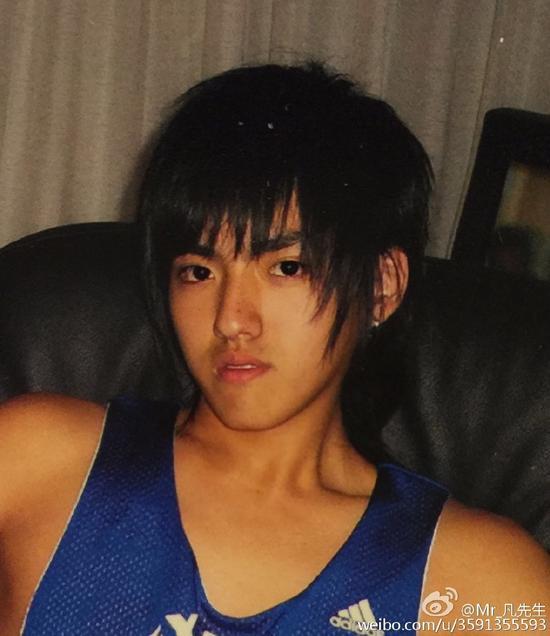 吴亦凡15岁旧照