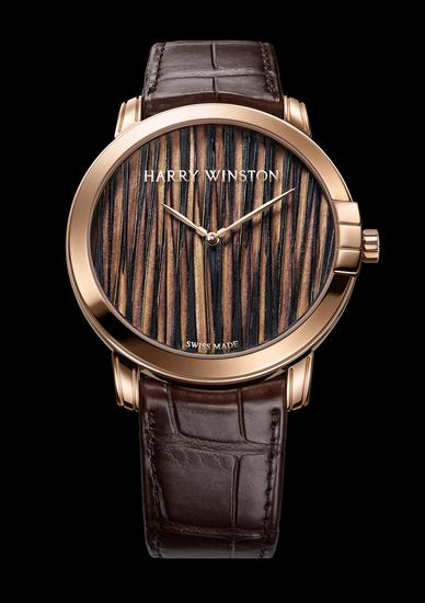 Harry Winston calme MINUIT de nuit série PLUMES 42 mm montre automatique