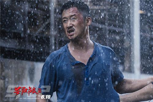 《杀破狼2》吴京雨中搏斗