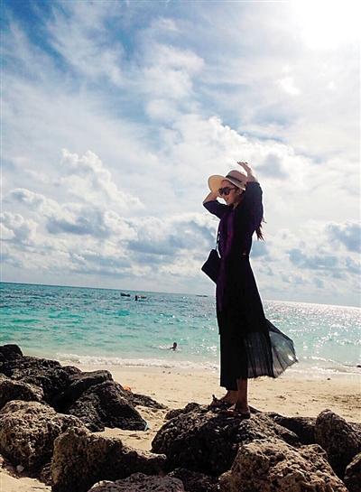 在巴哈马海边