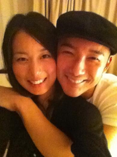 山本太郎与前妻合照