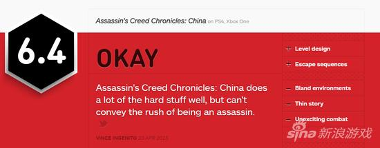 IGN评分为6.4