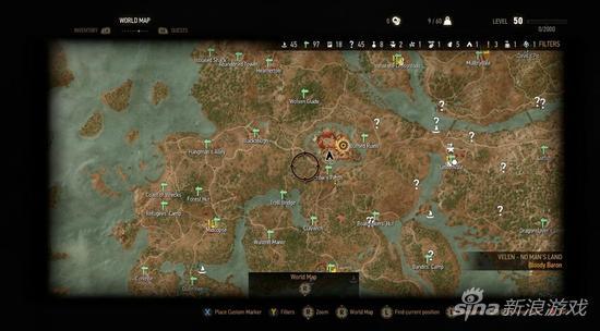 《巫师3:狂猎》世界地图公开 5月19日正式发售