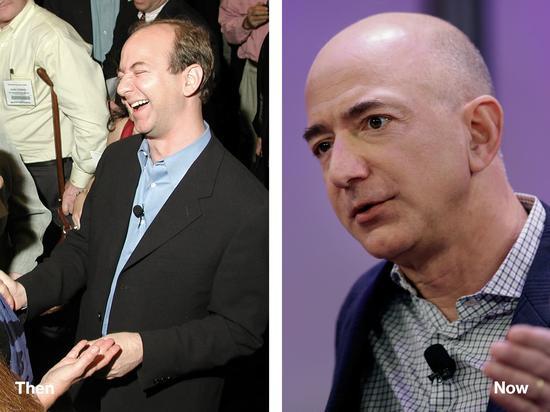 2010年和2014年的亚马逊CEO贝佐斯