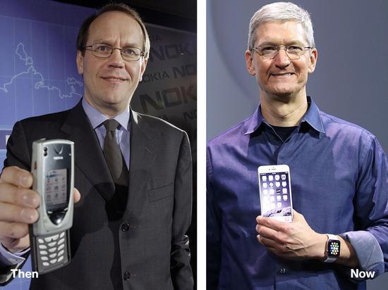 诺基亚前CEO奥利拉、苹果CEO库克
