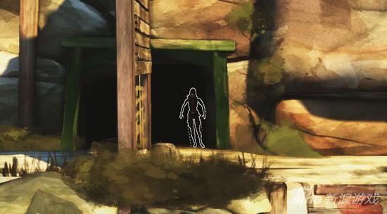 在隐匿处躲藏时,身体的轮廓处锯齿非常明显