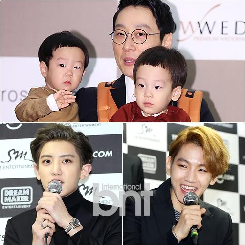 李辉才和双胞胎儿子、EXO 灿烈、伯贤