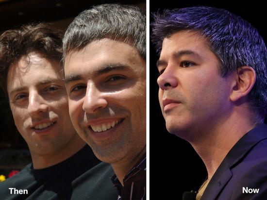 谷歌联合创始人布林和佩奇、Uber创始人卡兰尼克