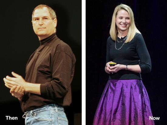 苹果前CEO乔布斯、雅虎CEO梅耶尔