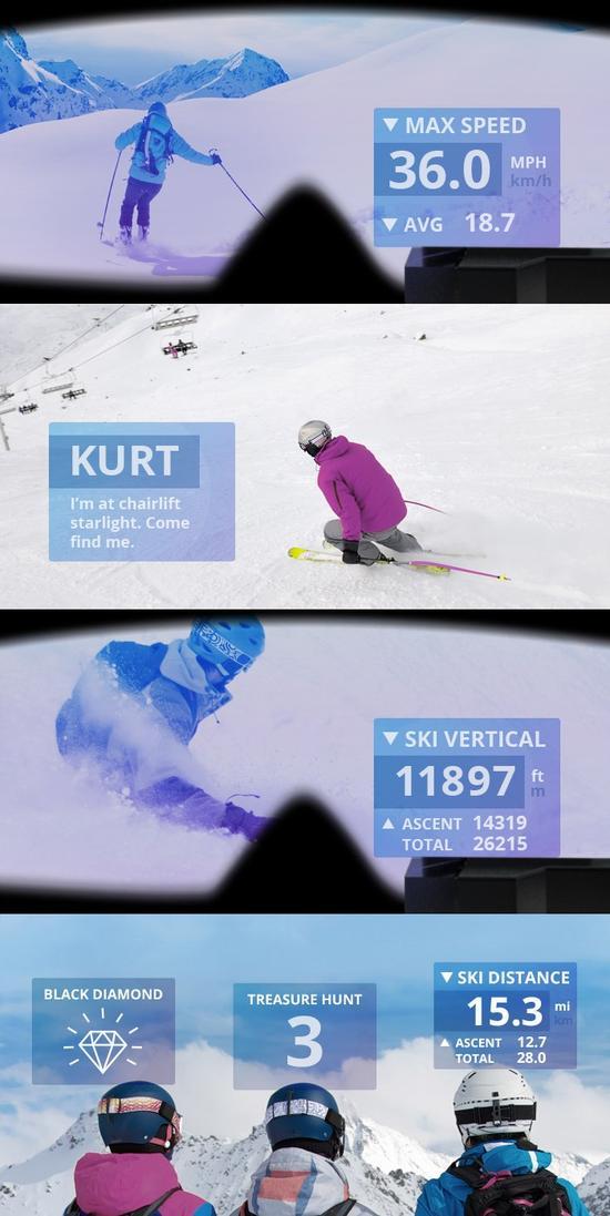 滑雪晴靈:可裝在任何滑雪鏡上的谷歌眼鏡