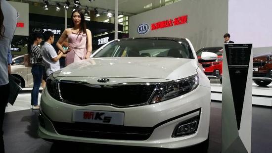银川车展起亚车型推荐 中级家轿新k5图片