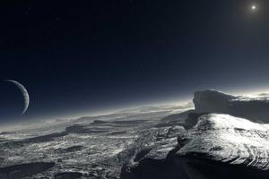 美探测器回传照片显示冥王星或存极地冰冠