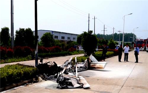 淮北一架小型飞机坠毁