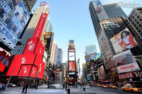 纽约时代广场的那些中国广告 手机新浪网