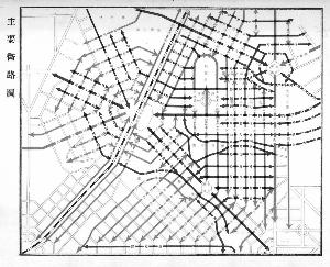 伪满时期主要街路图。