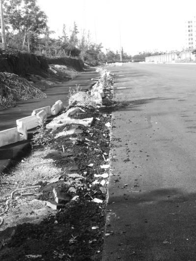 正在修建的道路