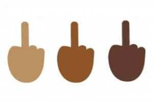微软要疯?将竖中指加入emoji表情