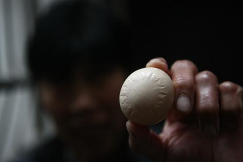 蛋壳上有椭圆形图案