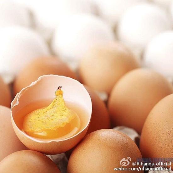 蕾哈娜自黑是鸡蛋黄