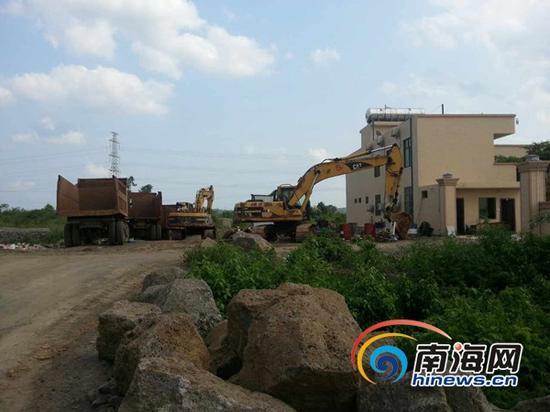 展源公司在秀英区的项目施工现场(南海网记者陈望摄)
