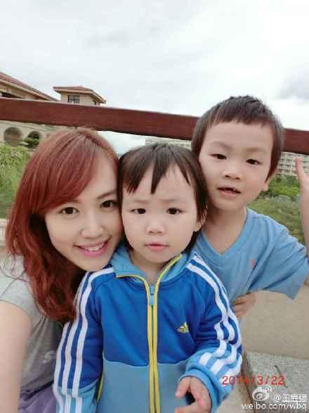 王宝强老婆和一双儿女