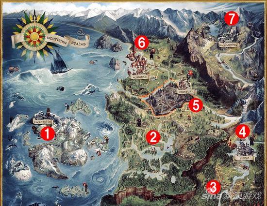 规模超《gta5》1.5倍大 《巫师3》地图区域介绍