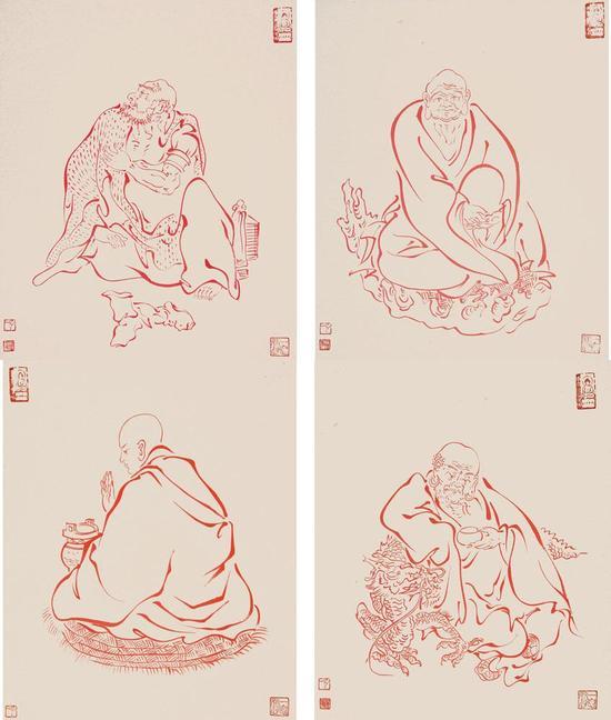 弘一大师18罗汉(资料图)